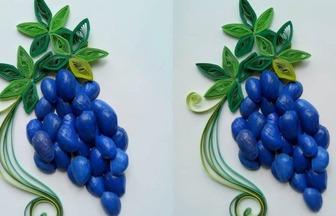 開心果殼DIY制作一幅葡萄裝飾畫