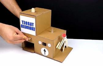 用紙板做成的電動發明小制作