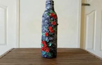 廢酒瓶做漂亮的創意工藝品