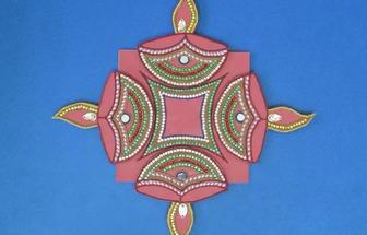 廢紙板做珠子裝飾墻掛擺件