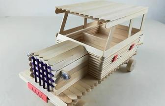 如何用雪糕棍制作老式貨車