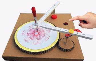 用紙板制造一臺幾何繪圖機