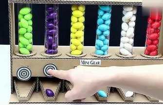 紙板創意DIY泡泡糖販賣機