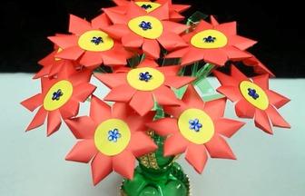 DIY美麗大紅花盆栽