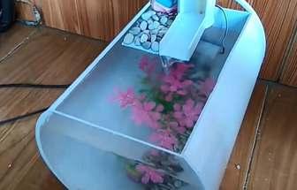 用PVC水管做的魚缸