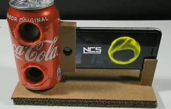 用易拉罐手工自制簡約手機音響