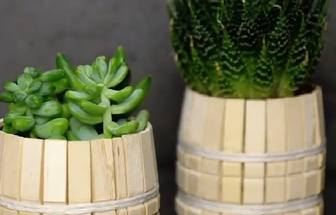 創意時尚diy打造清新森系花盆