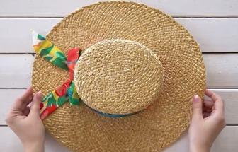 過氣草帽改造變身時尚單品