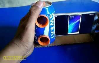 如何用易拉罐制作手機揚聲器