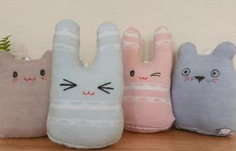 利用舊襪子制作復活節可愛玩偶小兔子