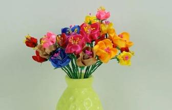 教你用彩帶DIY漂亮的布花花簇
