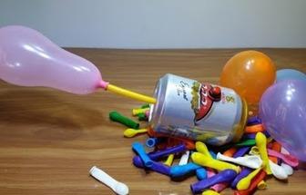 廢易拉罐DIY電動氣球打氣筒