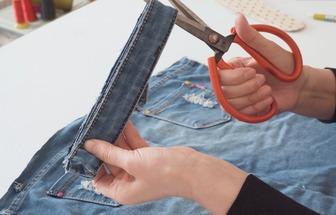 怎么利用廢牛仔褲做一雙居家布拖鞋