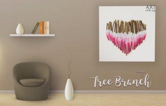 用树枝制造一个心形壁挂