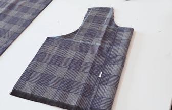 舊圍巾改造成DIY馬甲服