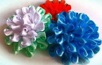 DIY缎带装修花朵的制造办法