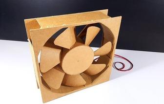 手工制作一臺紙板電動風扇