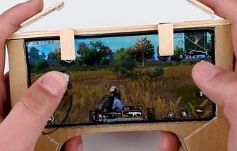 使用棒冰棍DIY刺激戰場手機吃雞神器