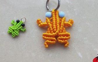 手工編繩做一個可愛的小青蛙掛件