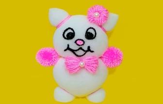 教你用薄海綿DIY漂亮的小熊玩偶