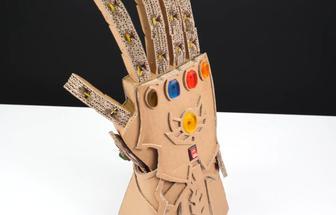 教你如何用紙殼制作滅霸的手套