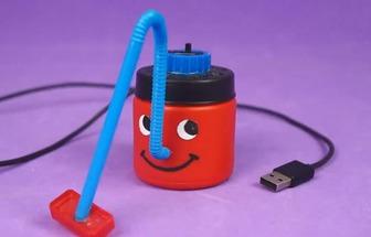 自制USB迷你玩具吸塵器