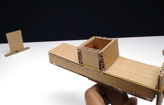 手工制作有趣的紙板玩具槍