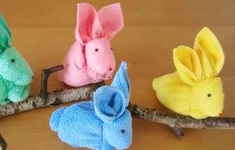用毛巾做萌萌噠復活節小兔子