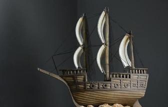 利用普通硬紙板制作帆船模型