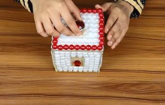 手工DIY亮珠首飾盒教學