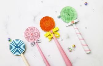手工制作可愛逼真的彩色棒棒糖