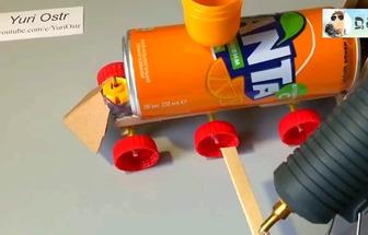廢物利用制作電動玩具火車頭