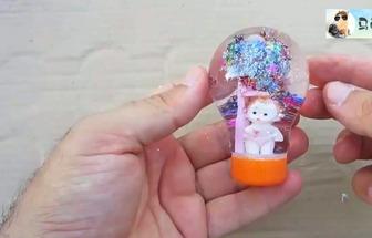 使用廢燈泡DIY冰雪水晶球