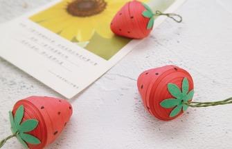 教你用紙條4步做一個好看的草莓