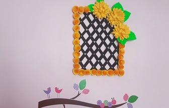 教你用舊紙板和彩紙DIY漂亮的墻掛裝飾