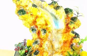 教你用泡沫箱DIY漂亮的假山流水瀑布