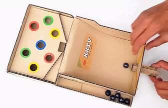 用瓦楞紙板制作彈珠游樂機