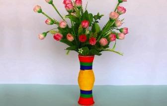 一次性杯DIY好看彩色花瓶