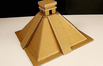 DIY紙板法老王金字塔模型