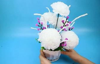 教你用衛生紙DIY漂亮的花藝裝飾