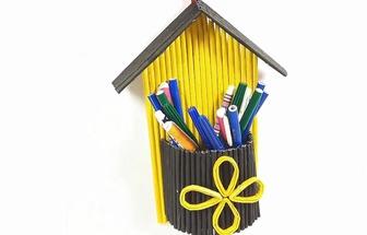 用廢紙DIY一個好看的墻掛收納袋