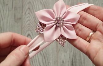 教你diy一个美丽的五角星花发夹