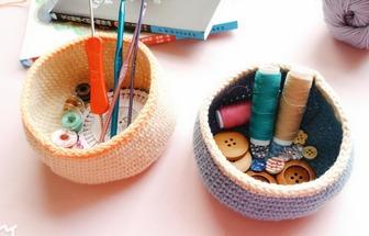 短針編織簡單可愛的雜物盒
