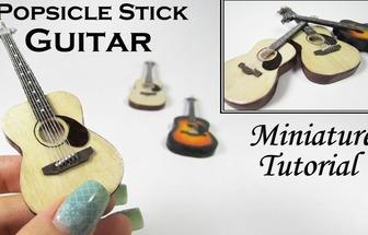 棒冰棍子手工DIY簡單又精致的迷你吉他