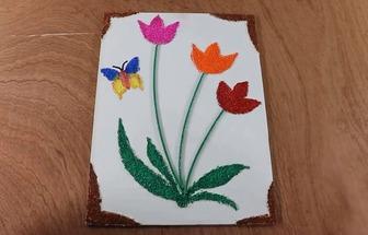 教你用雞蛋殼和紙板DIY漂亮的花草畫