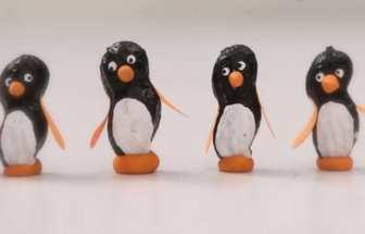 教你用花生殼DIY小企鵝