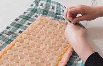 廢舊電熱毯DIY手縫托盤