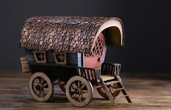 手工制作古代馬車模型的制作方法