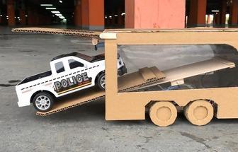 用紙板制作箱式拖車