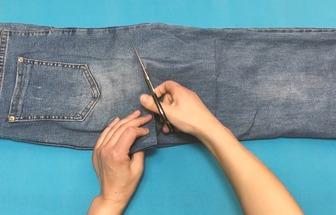 過時牛仔褲改造時尚短褲